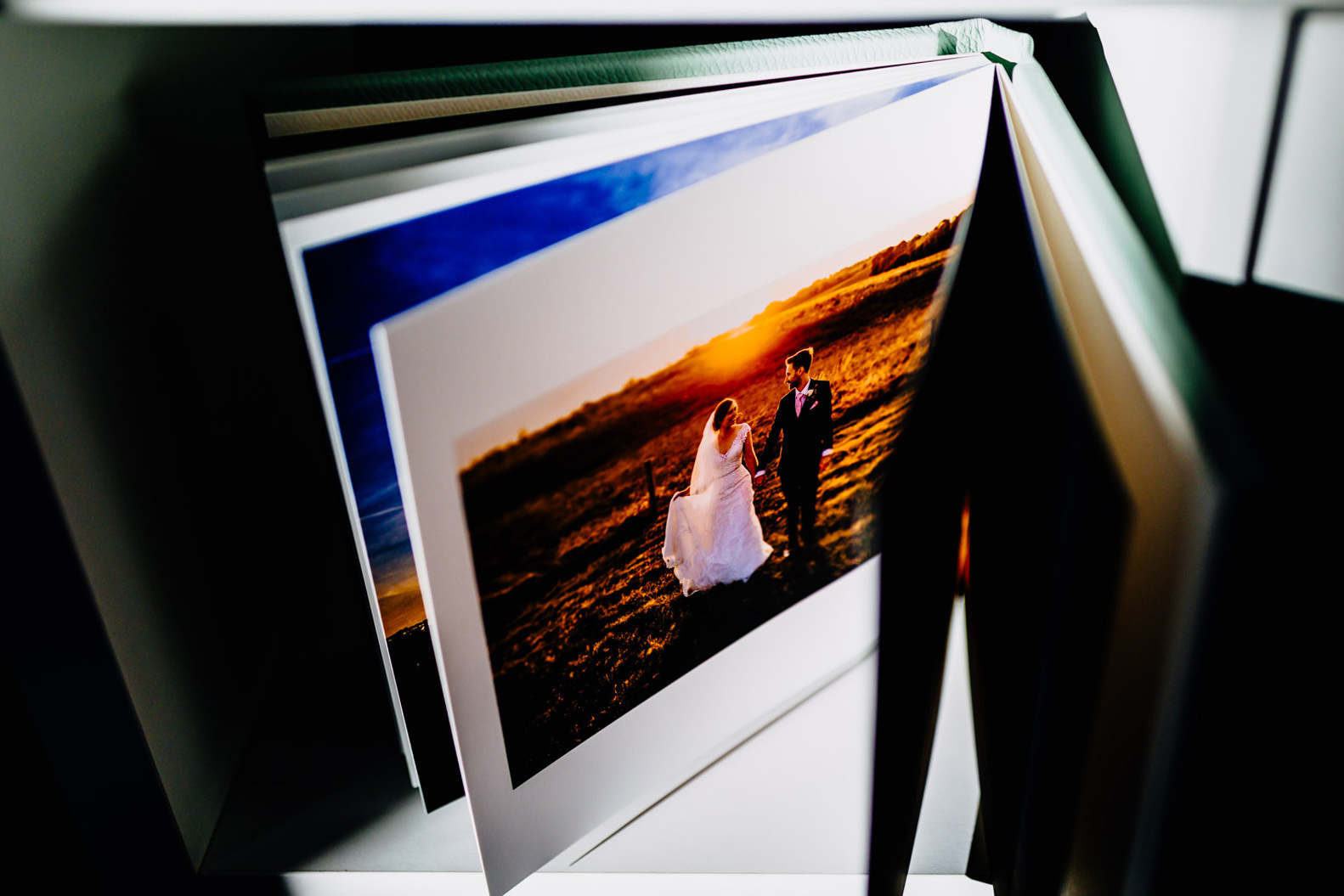 A wedding photo album by Elliot w patching photography