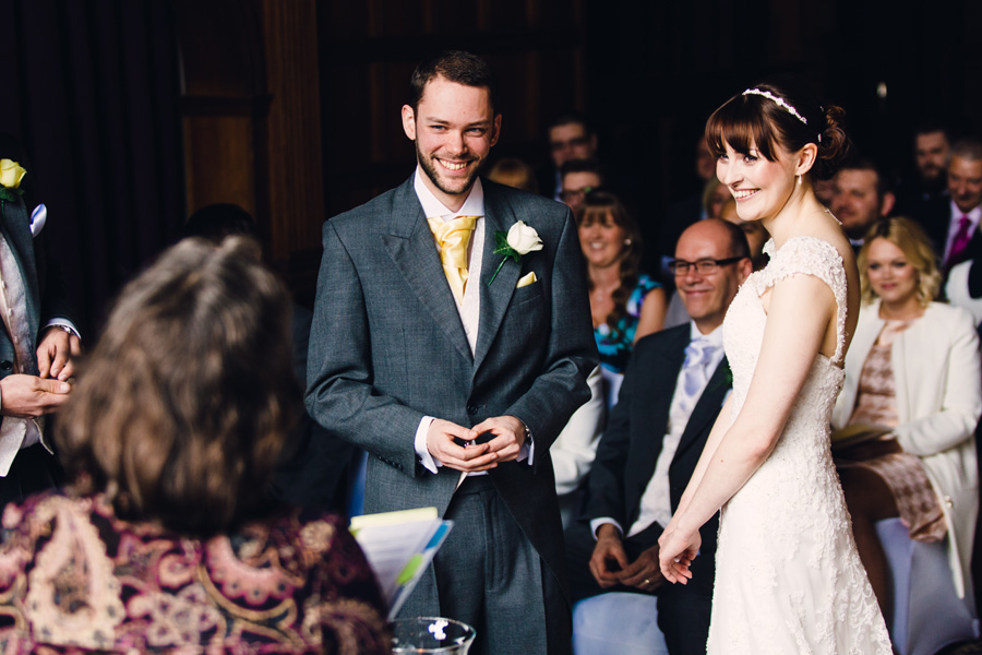 a groom enjoying the wedding ceremony