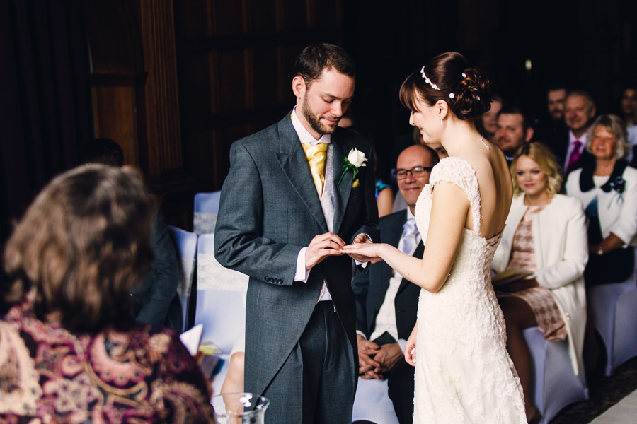the ring exchange at a wedding