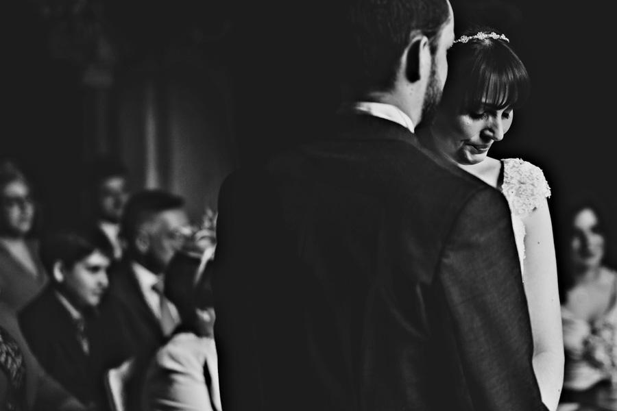 an emotional bride