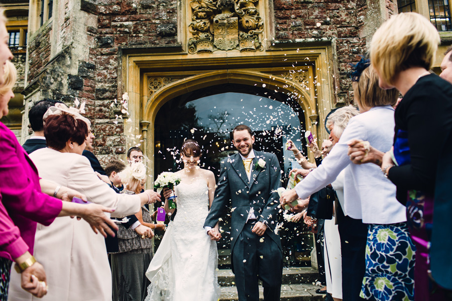 a confetti image by a Northampton wedding photographer