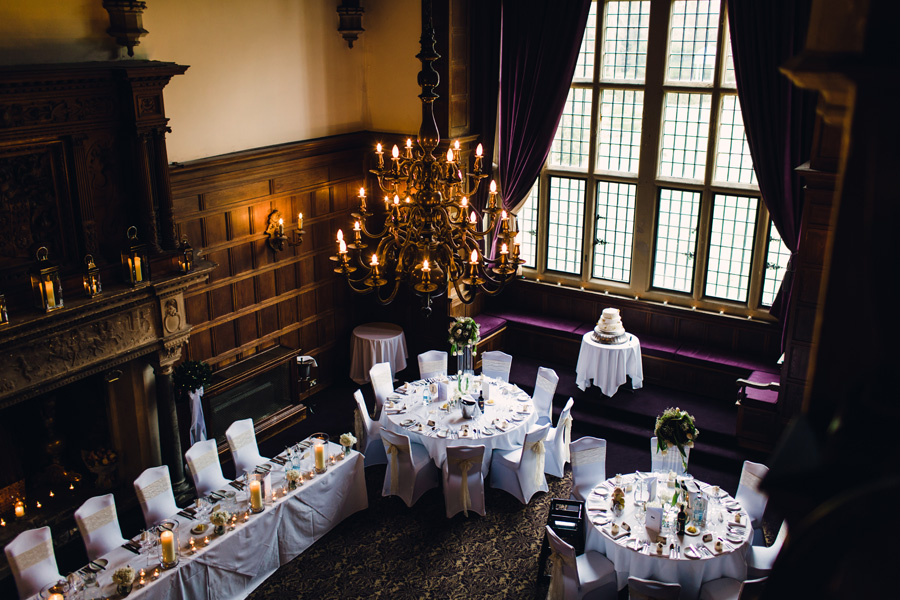 the wedding breakfast room at rhinefield house
