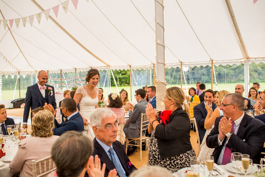 guests at the wedding reception - Northampton marquee wedding photography