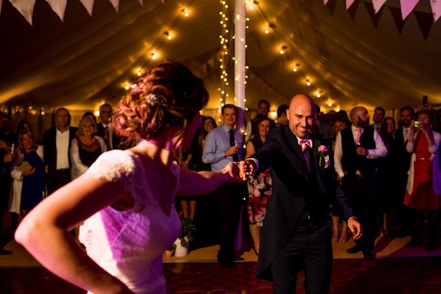 action dance shot - Northampton marquee wedding photography