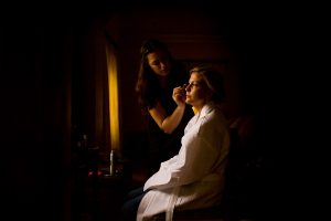 a photograph of bridal make up
