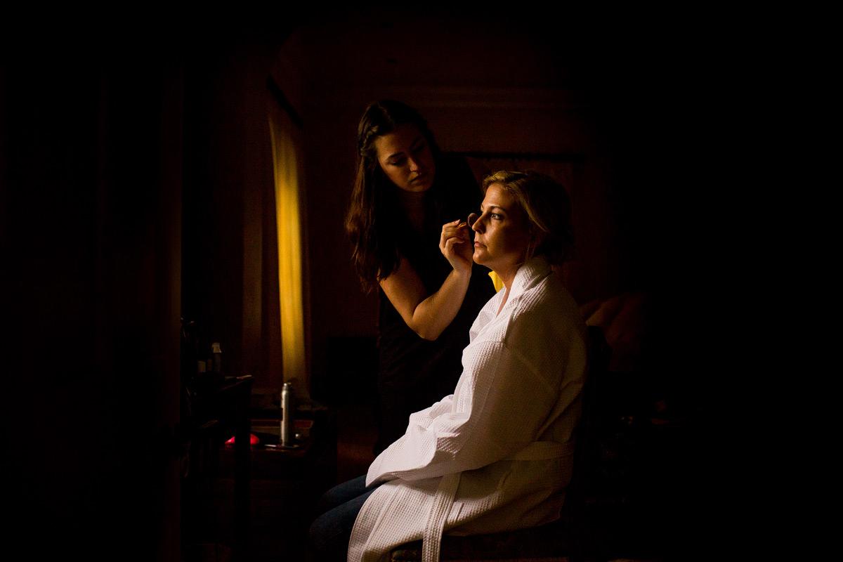 a photograph of bridal make up
