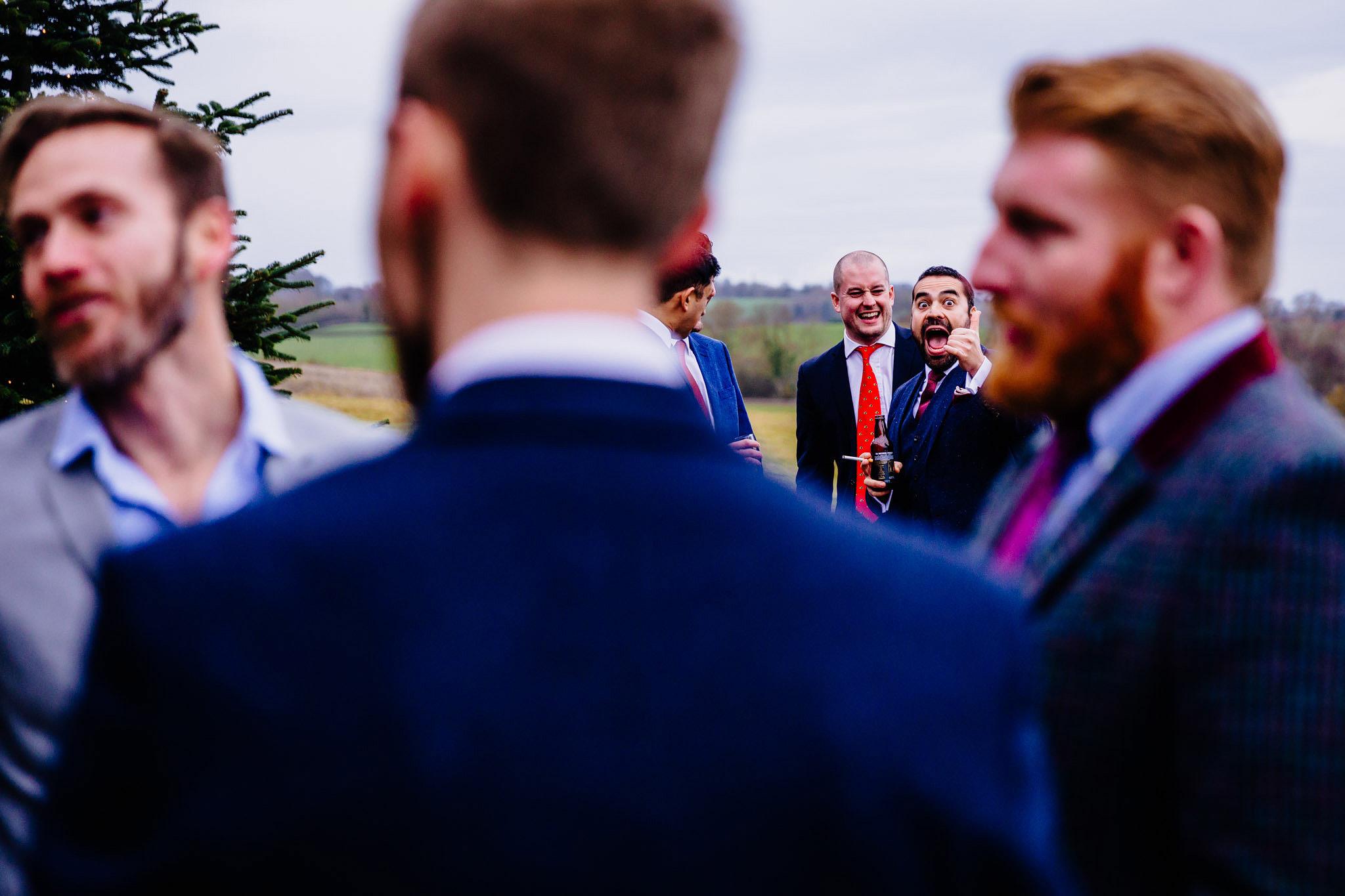 a guest having fun at a wedding