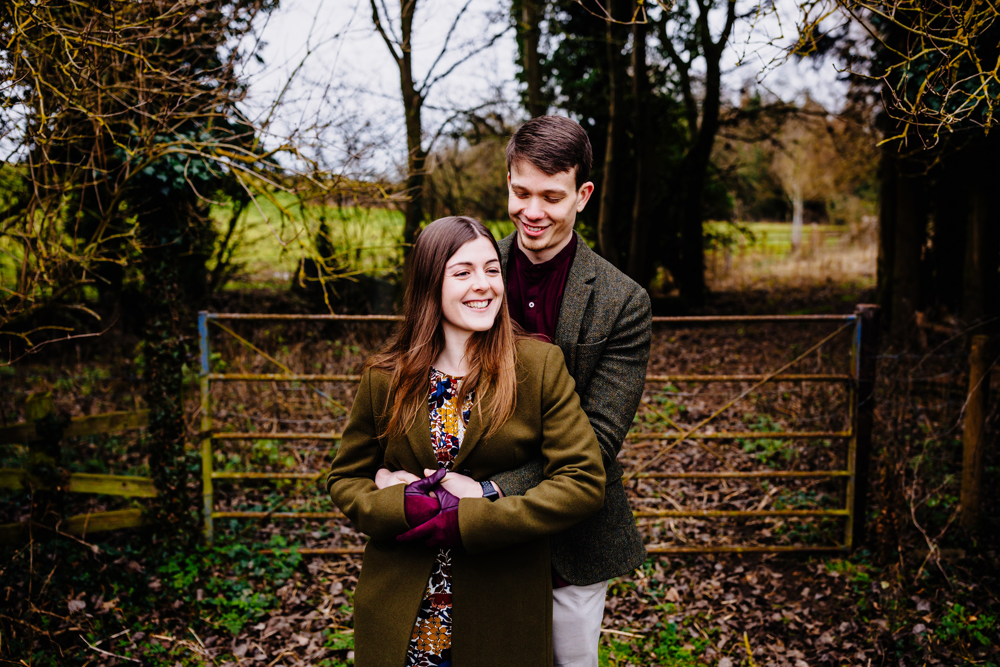 an engagement shoot in Northampton