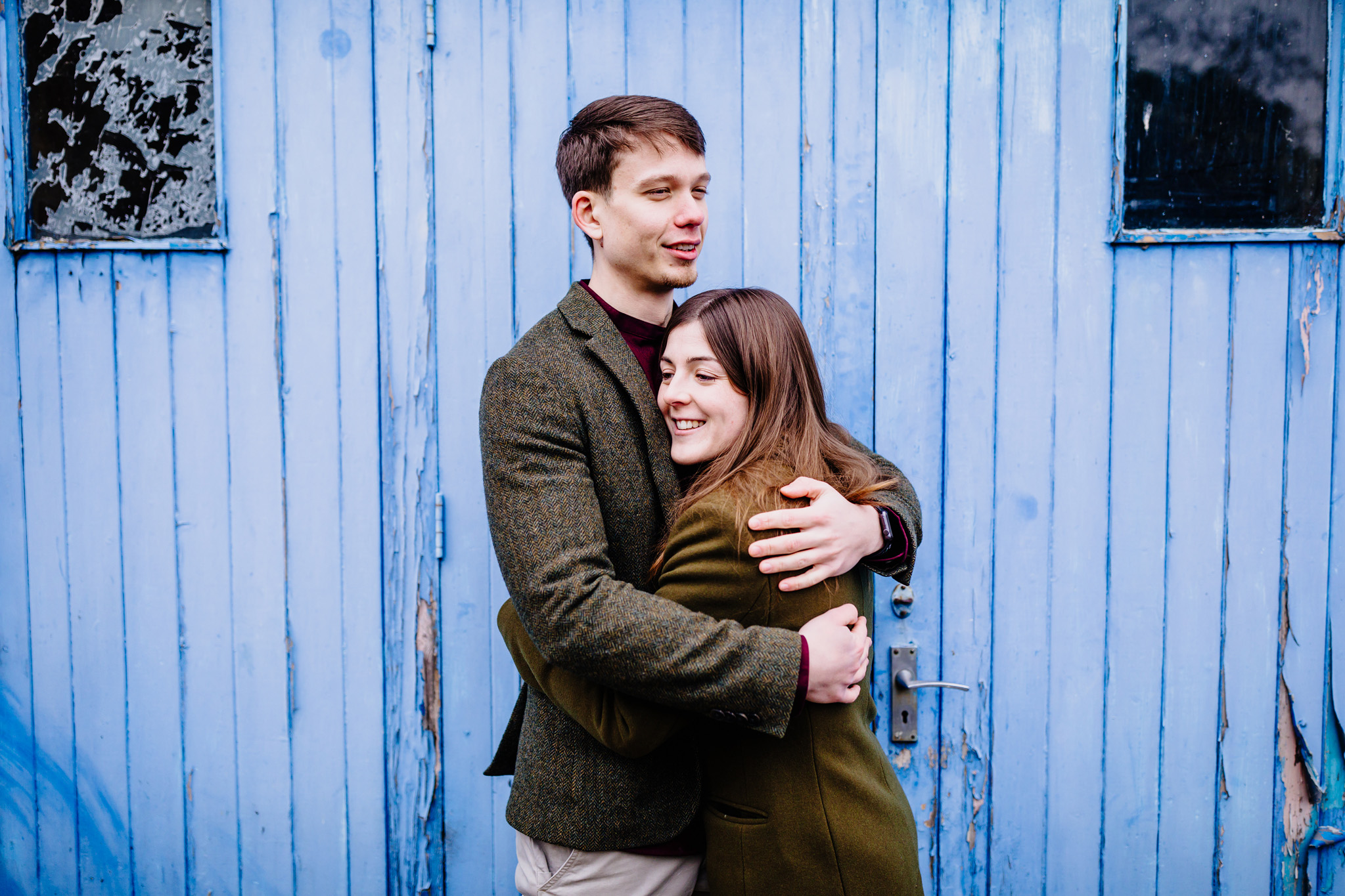 a colourful pre-wedding photograph