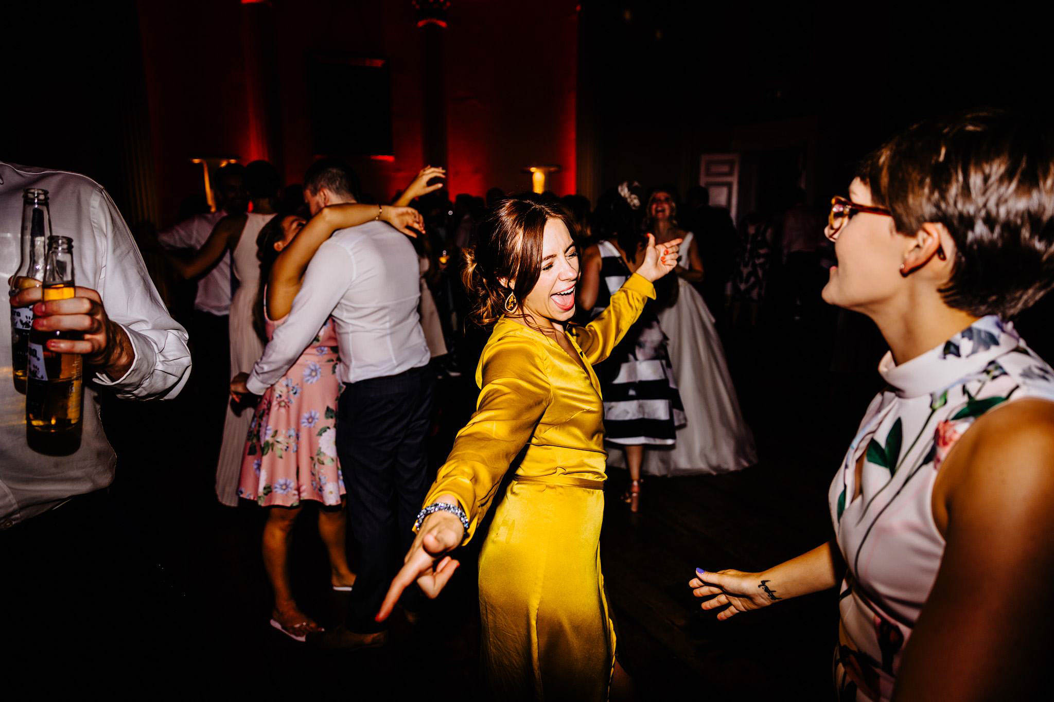 dancing fun at a wedding