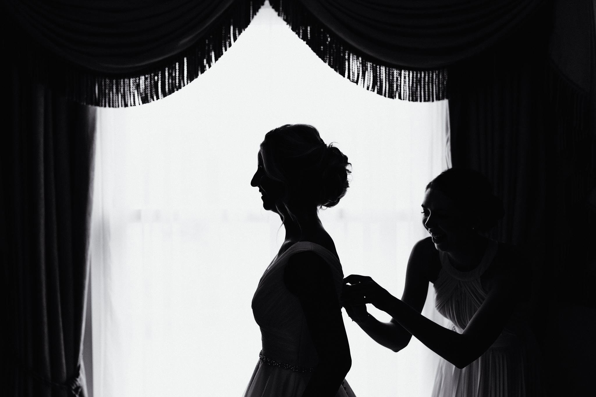 a silhouette photograph