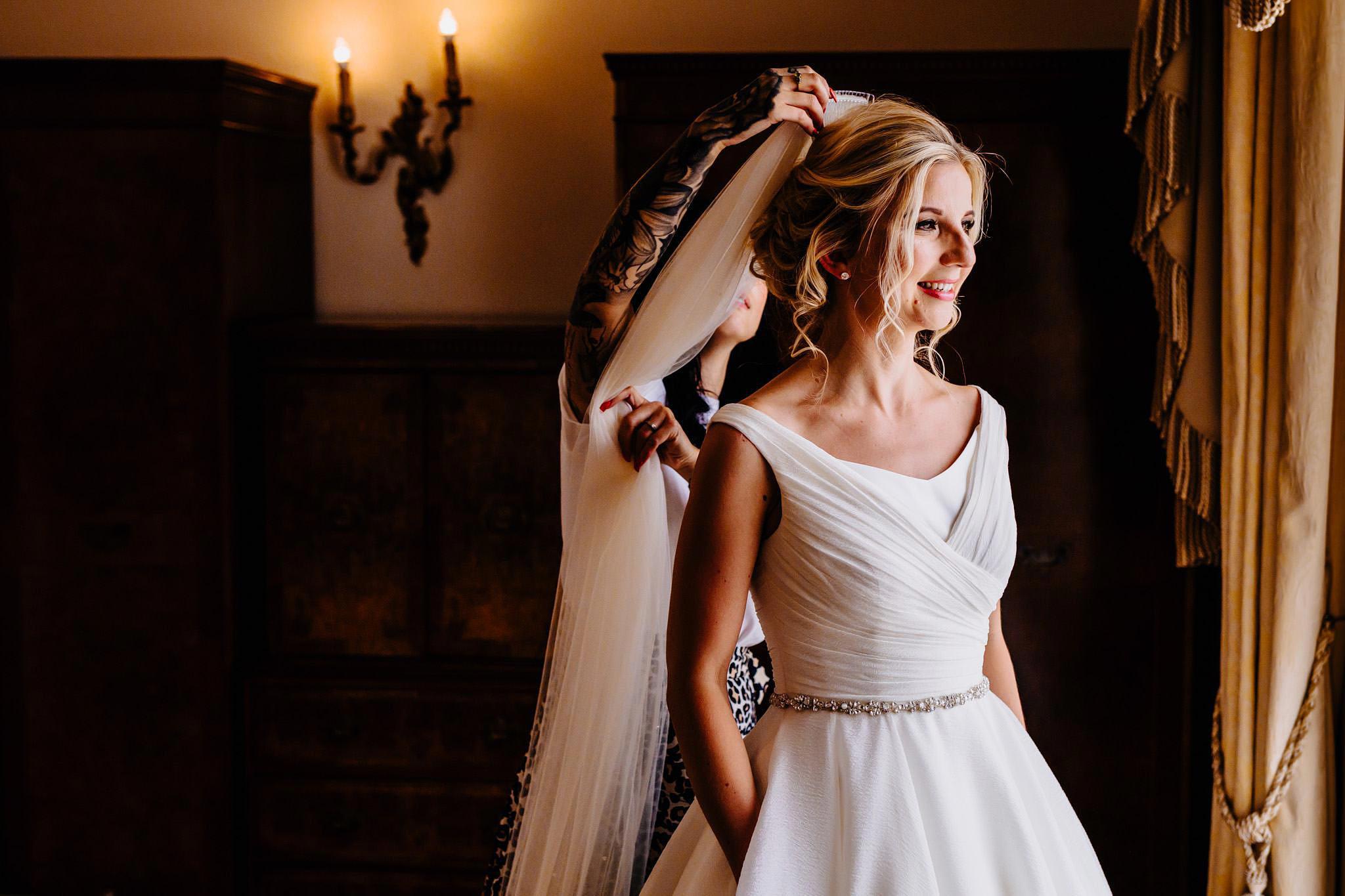 a wedding veil