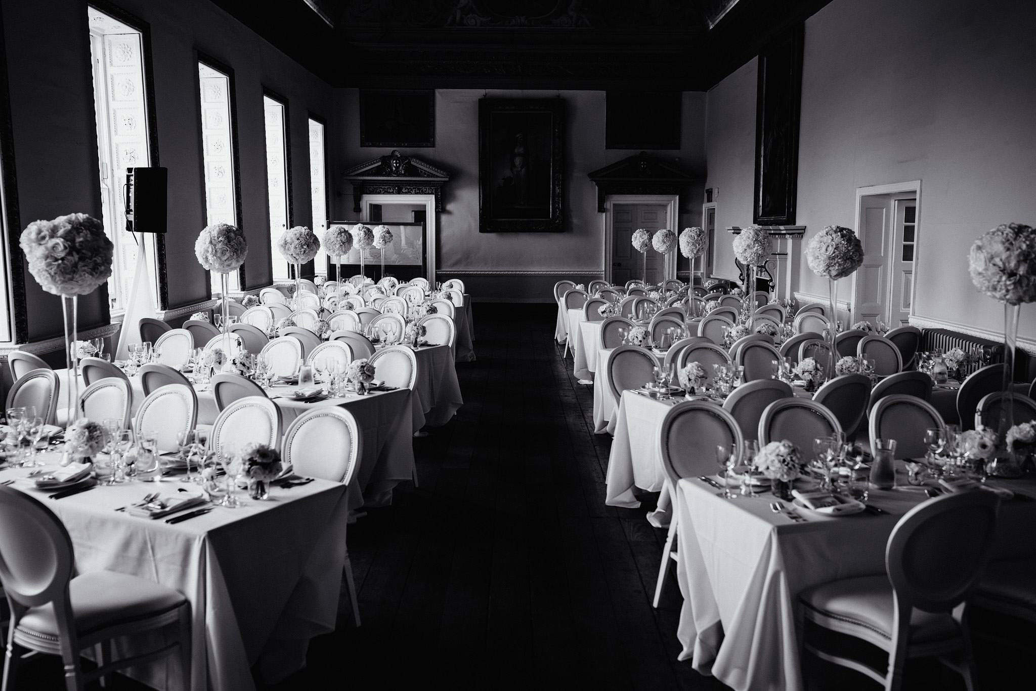 the wedding breakfast room at Stowe House