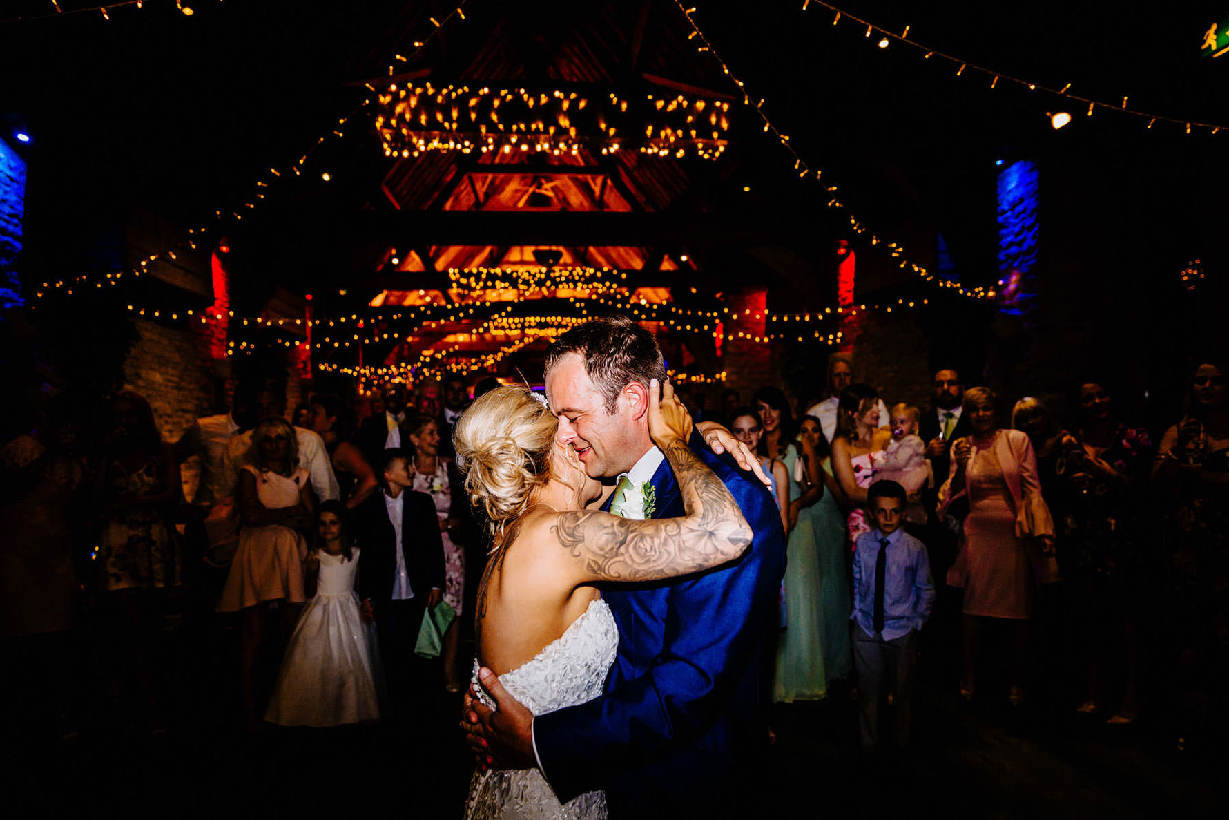a colourful first dance
