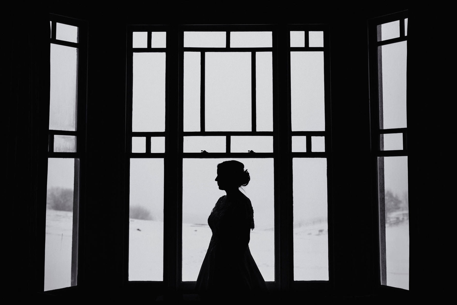a black and white silhouette