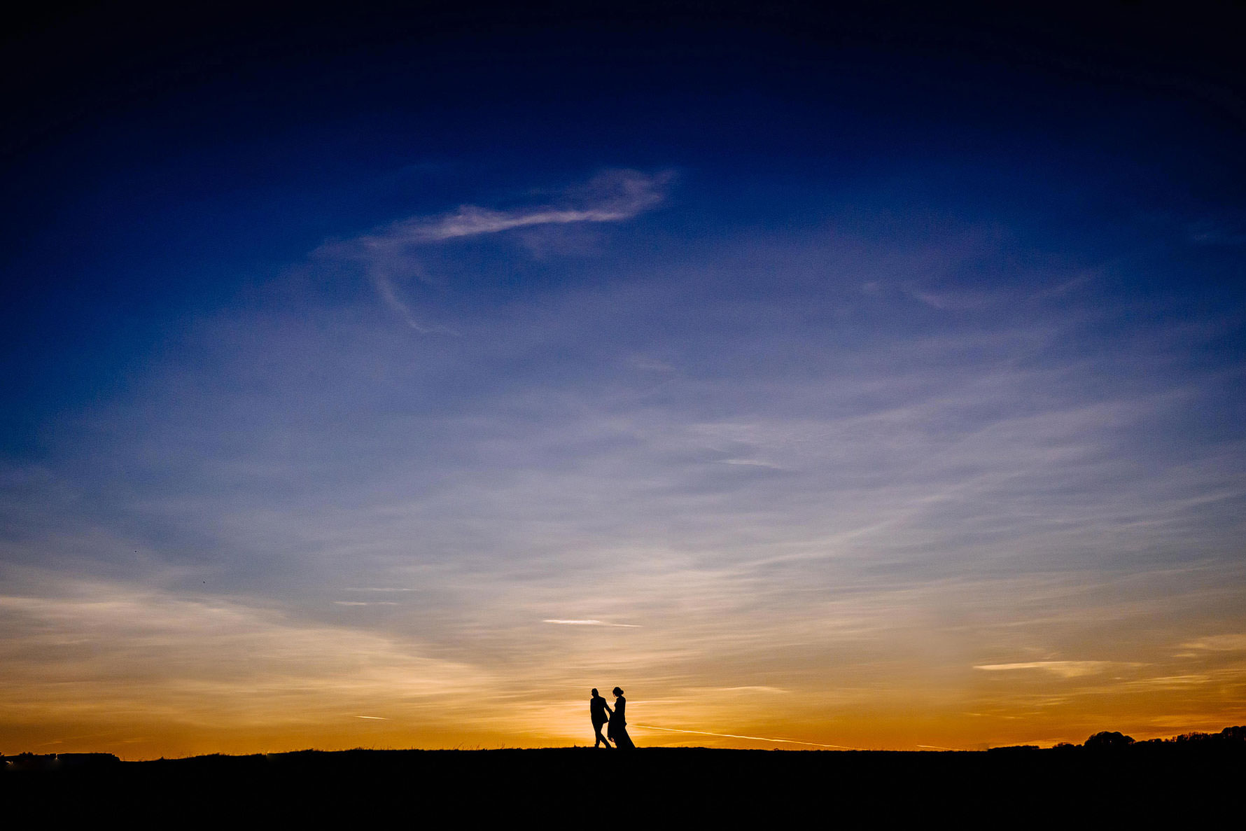 a beautiful sunset photography at dodford manor by Elliot w patching