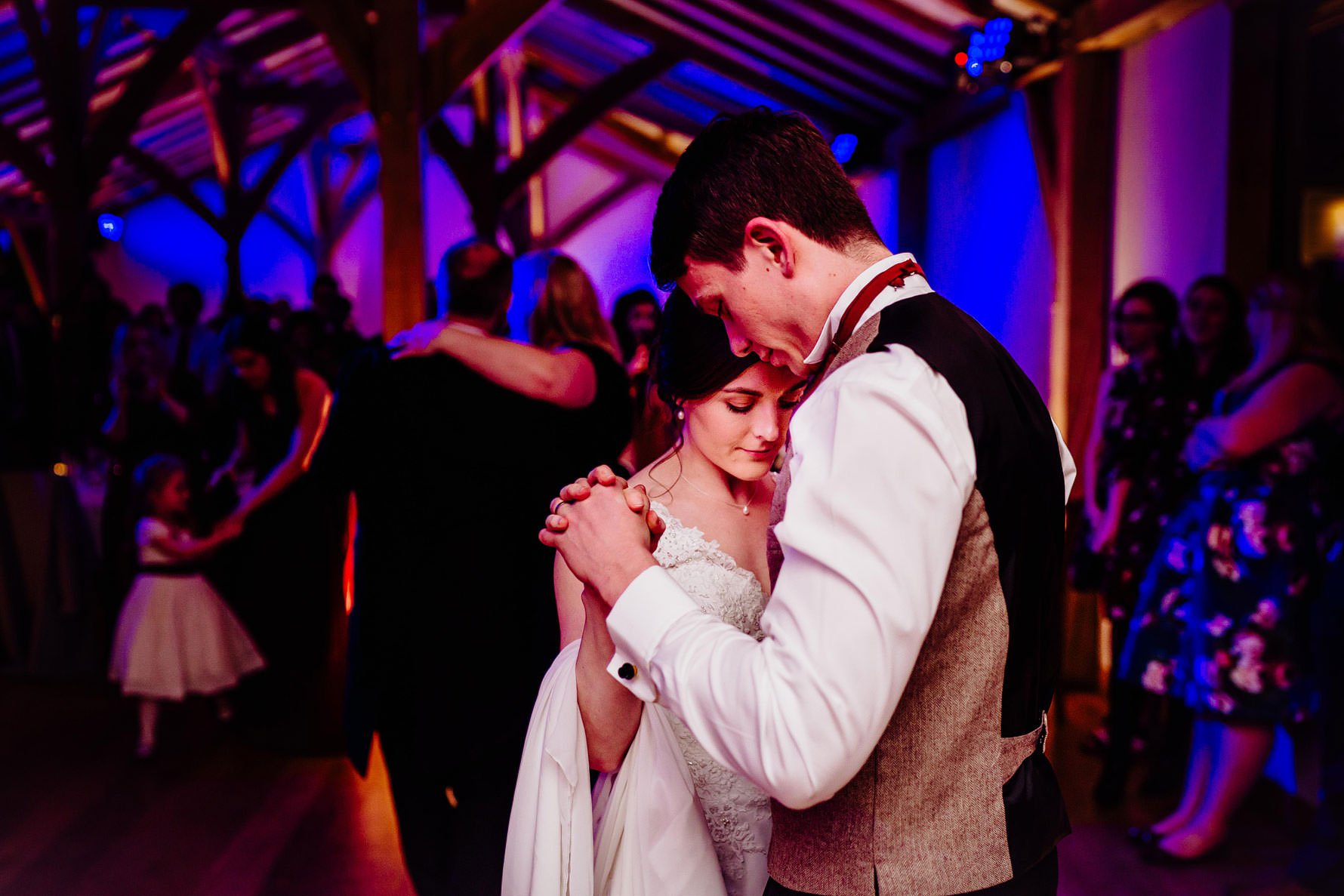 a colourful image of a first dance