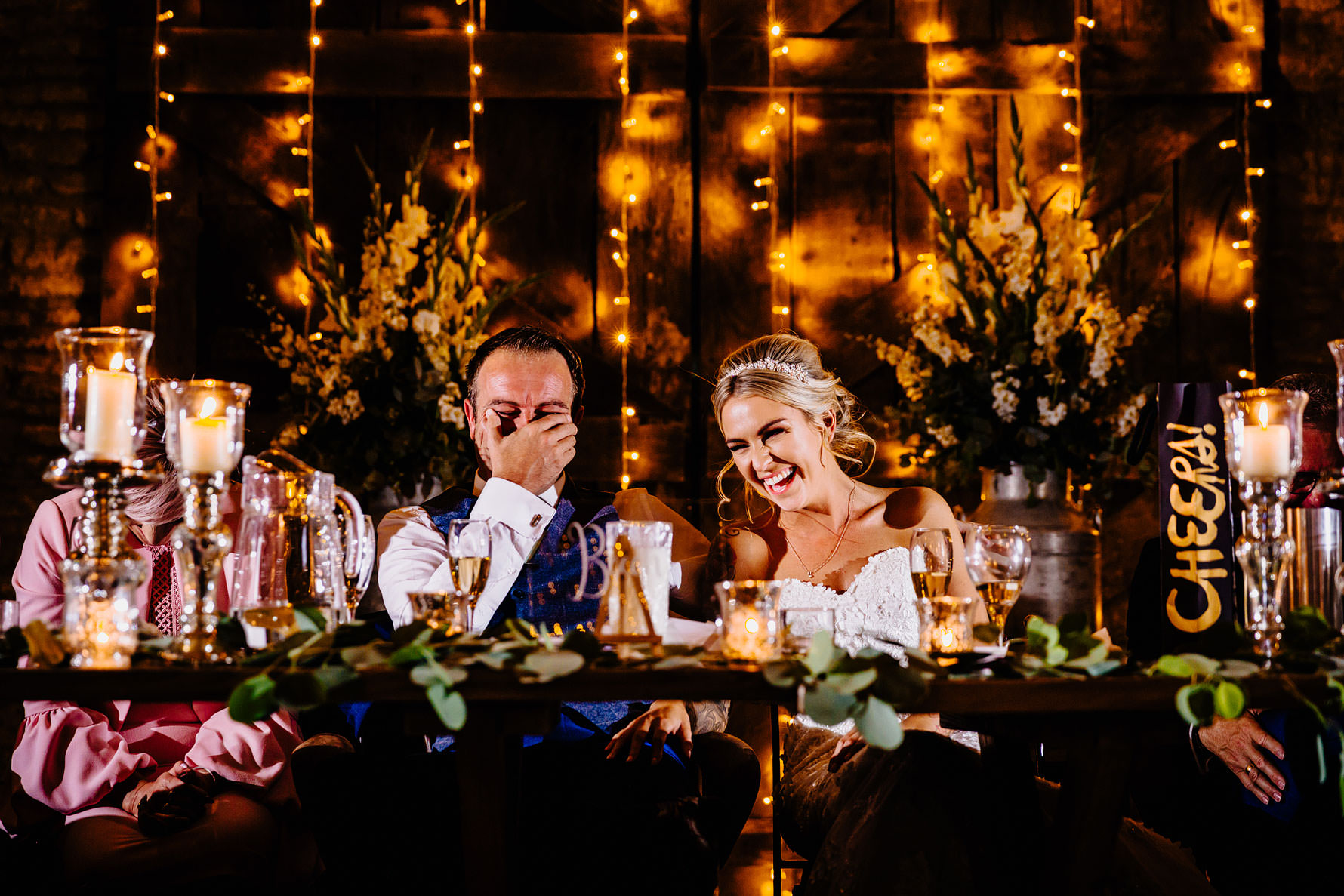 an embarrasses groom drink the speeches