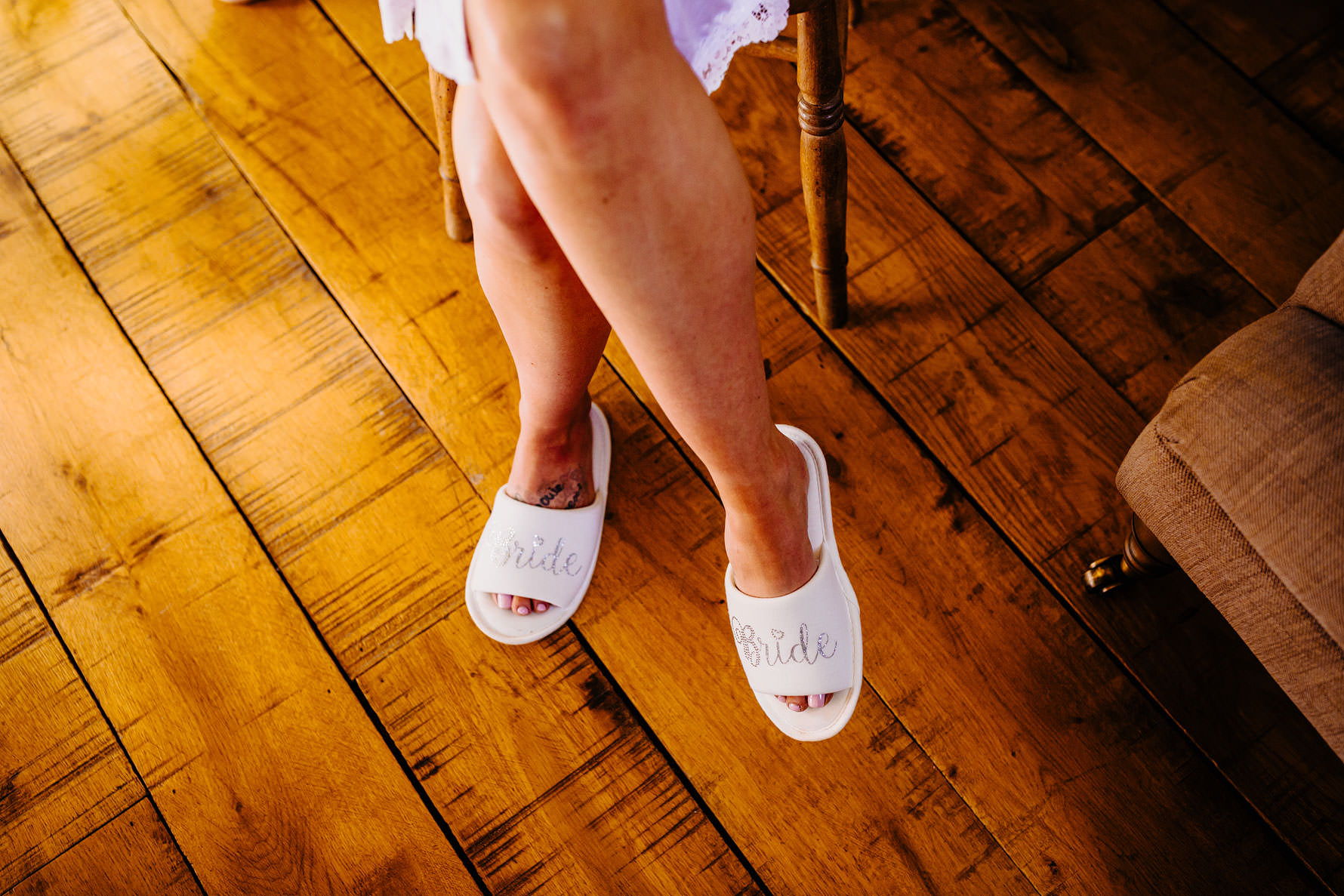 the brides slippers