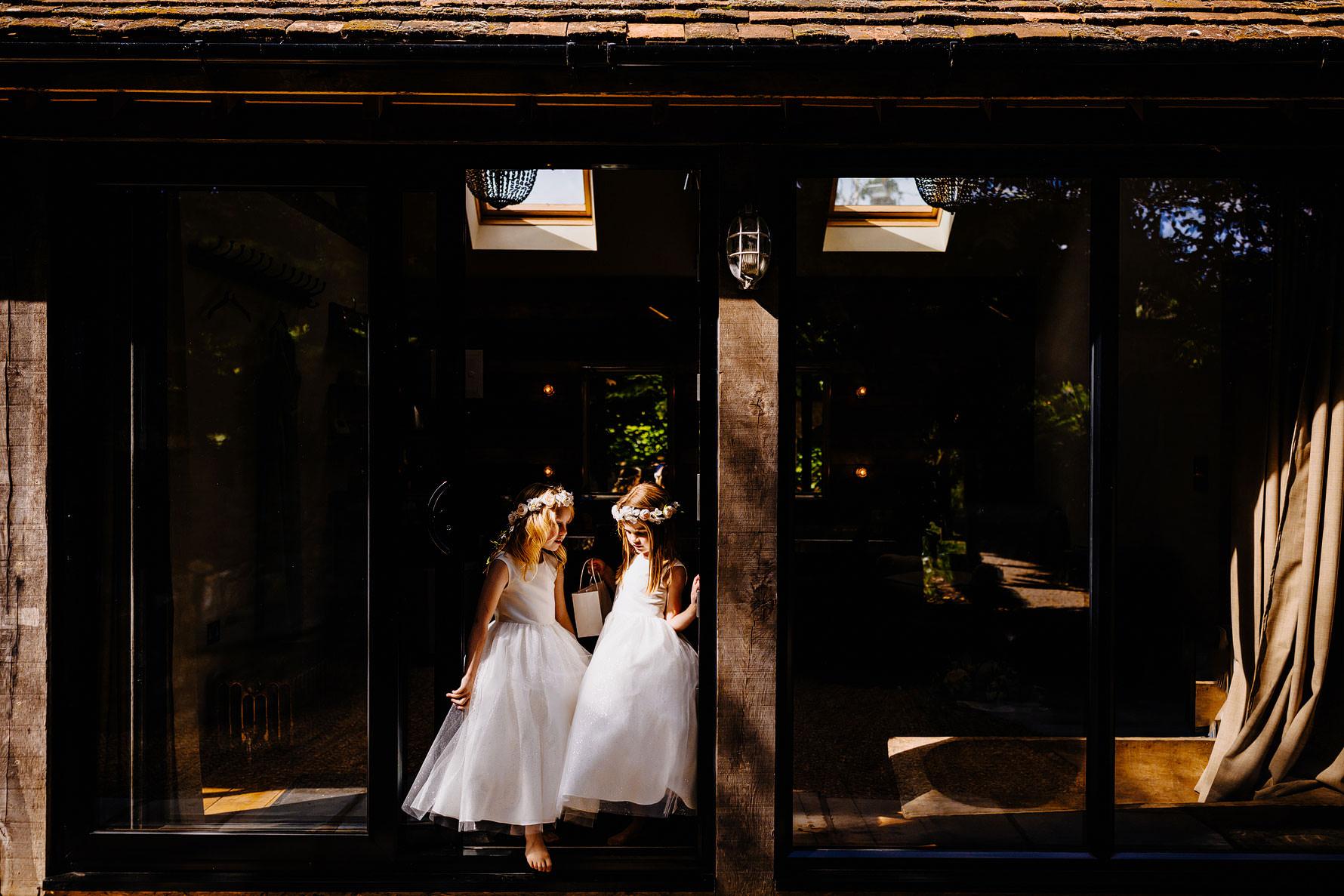 flower girls ready for a wedding