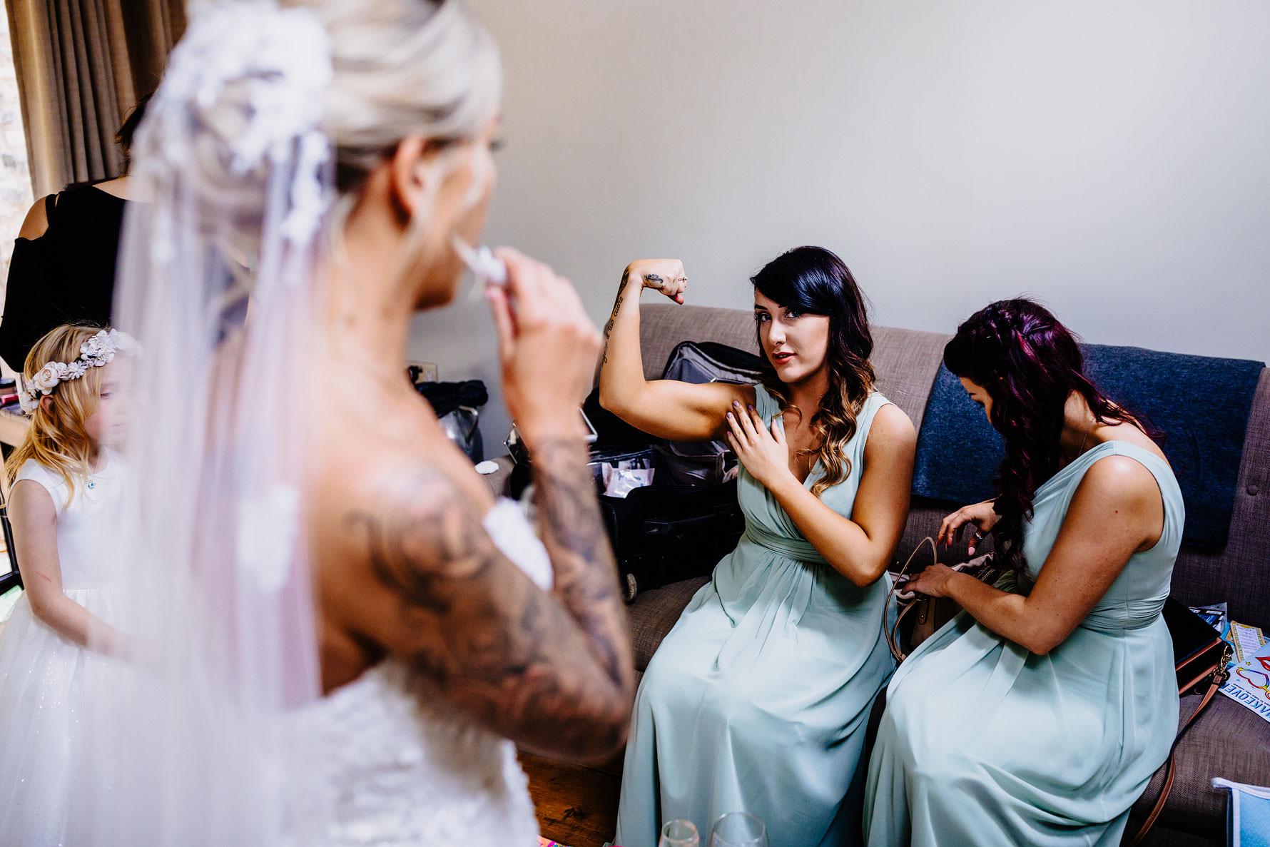 a fun image of a bridesmaid
