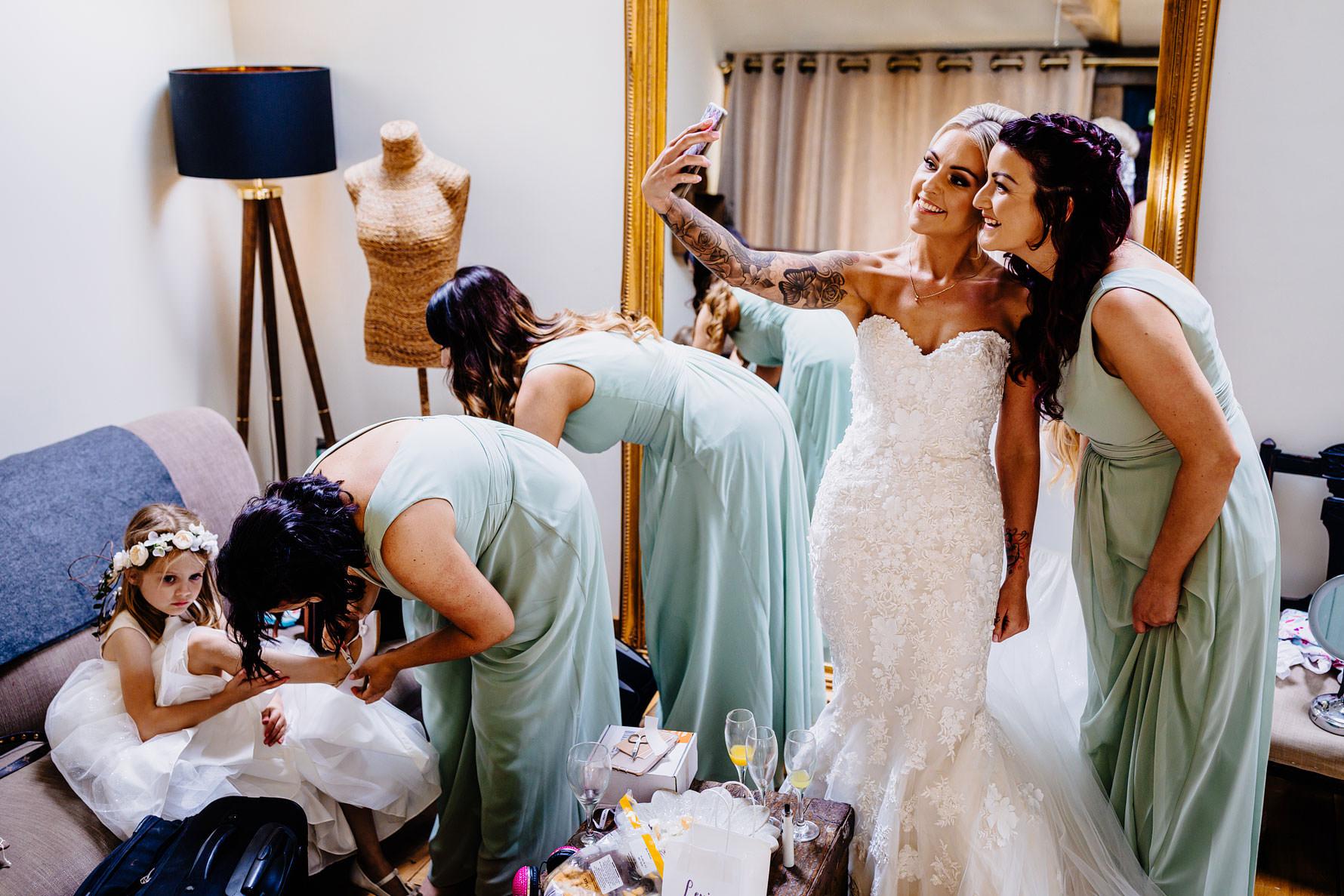 a wedding selfie