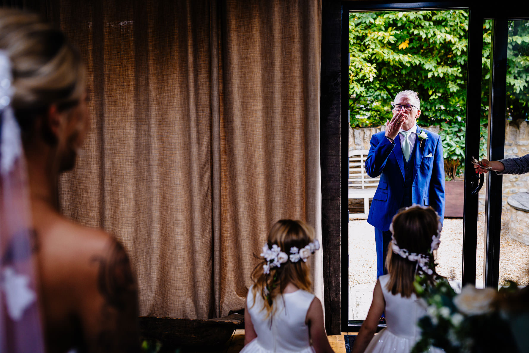 a kiss from the father of the bride
