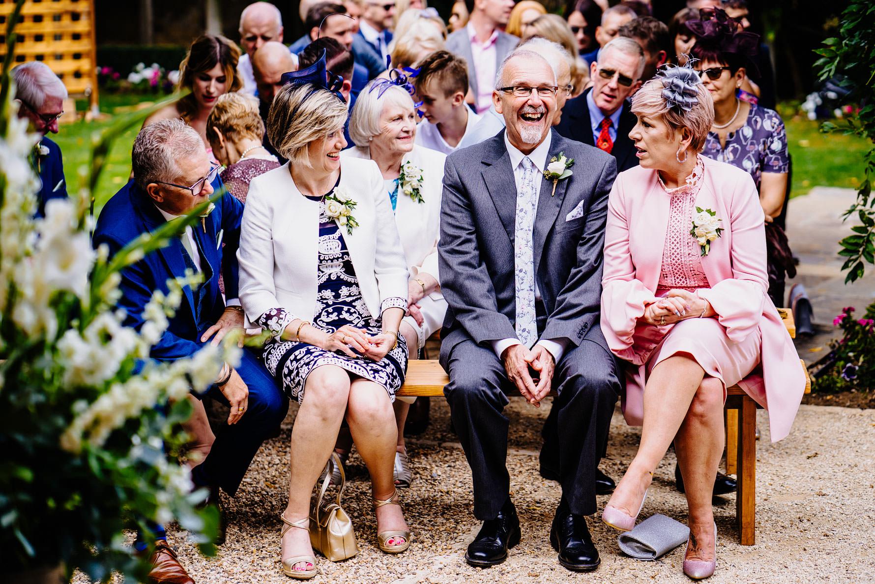 happy parents at a wedding