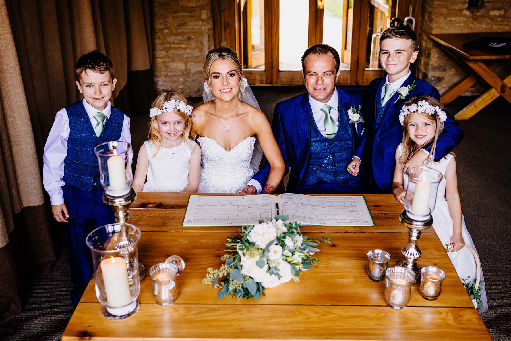 a family wedding image