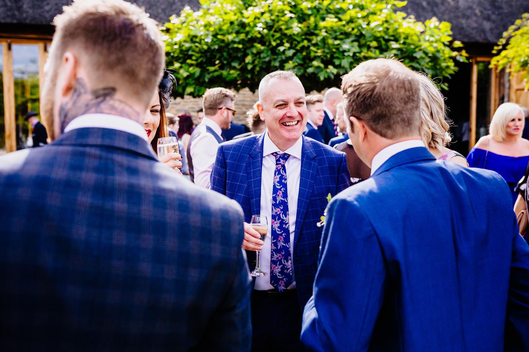 guest enjoying a wedding