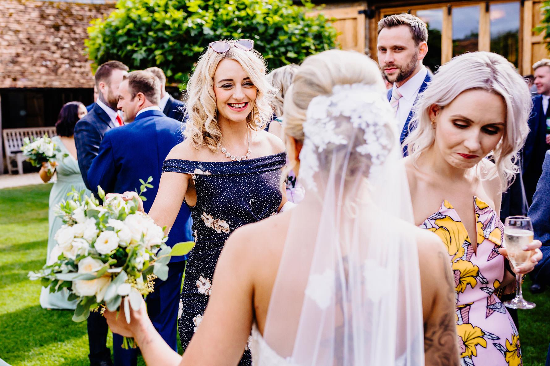 guests congratulate a bride