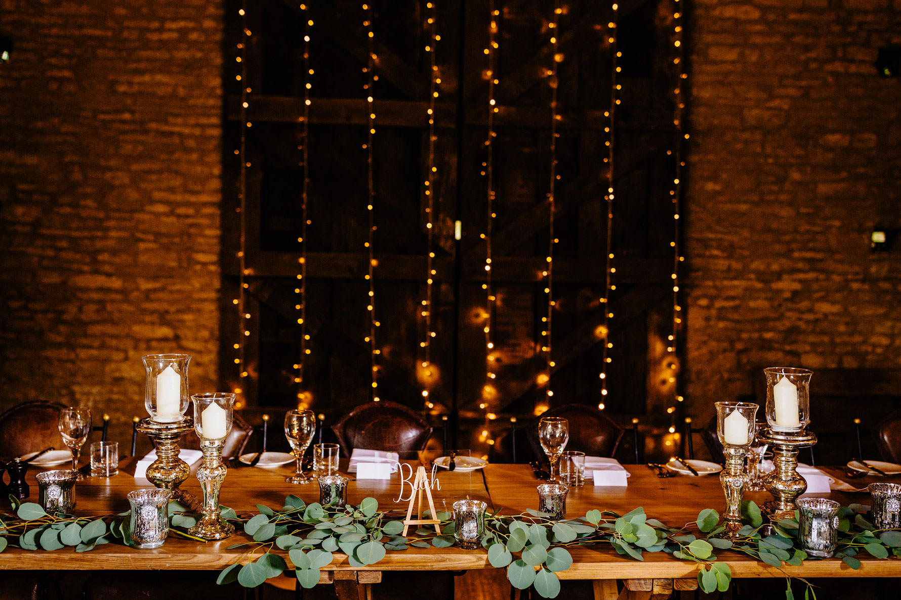 the top table at a wedding