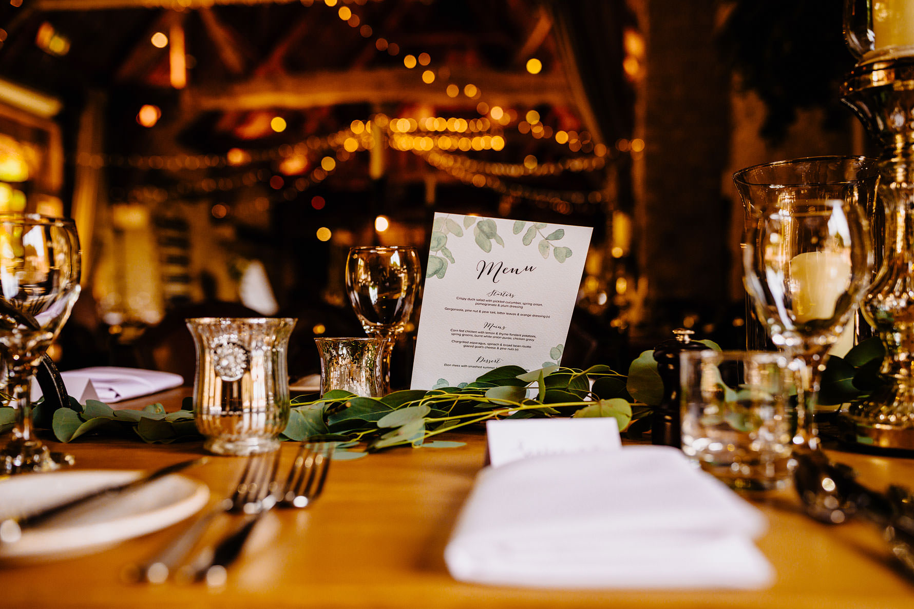 a wedding menus