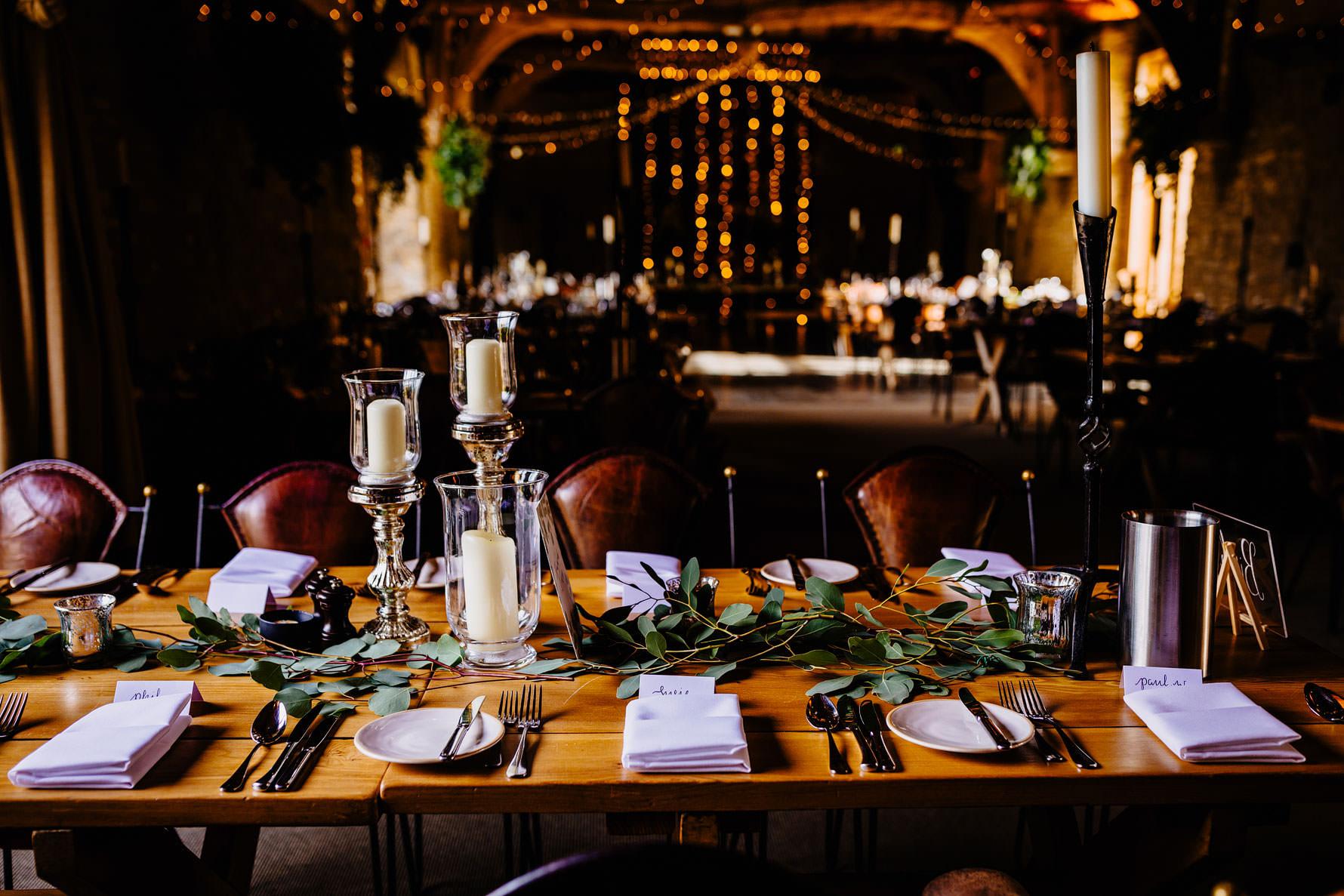 a room ready for a wedding breakfast