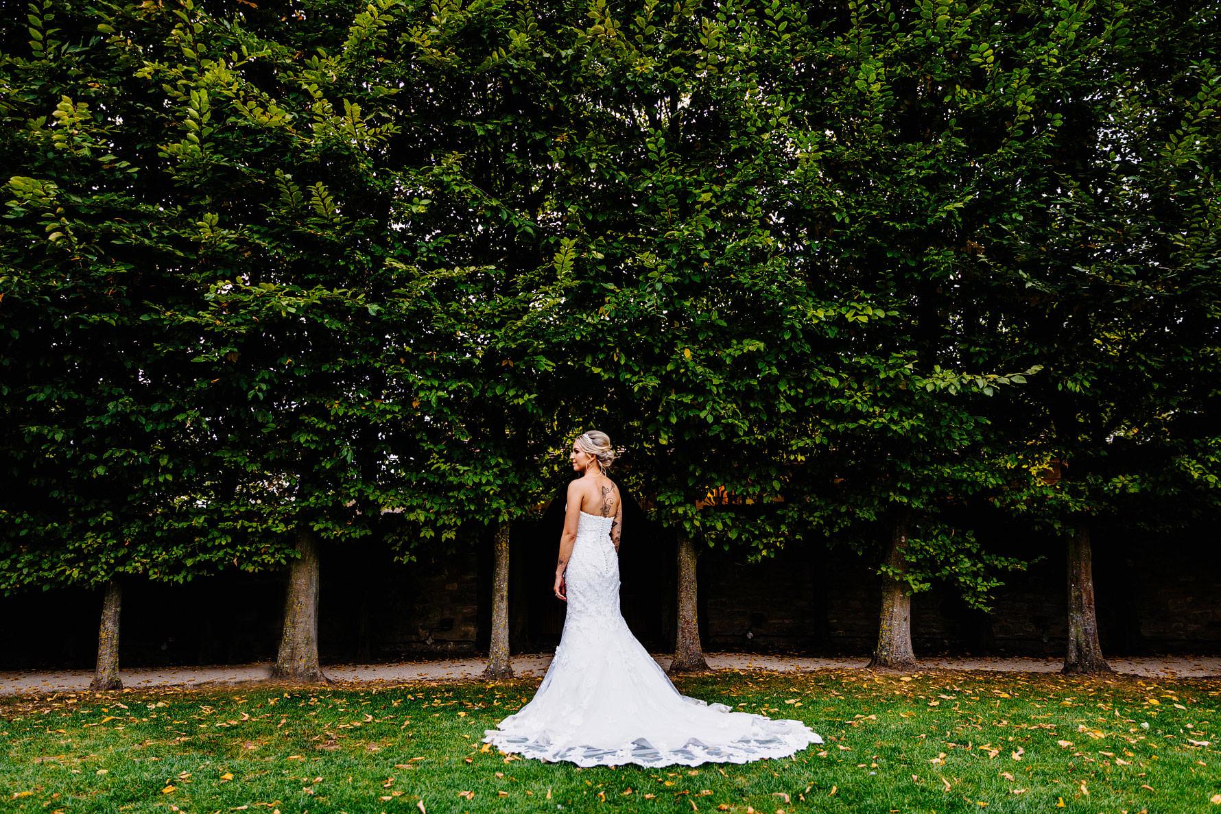 a detailed wedding dress