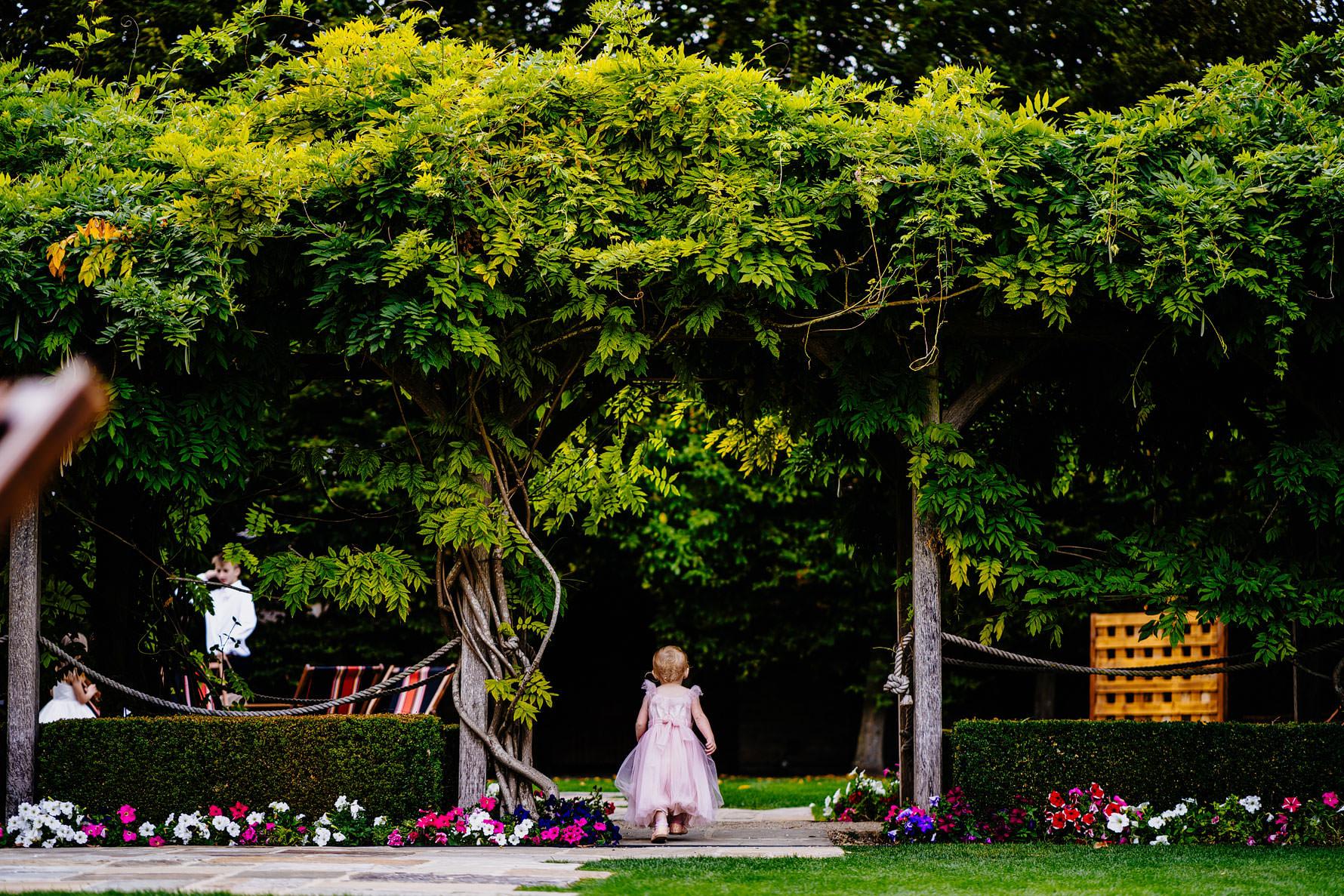 an infant at a wedding