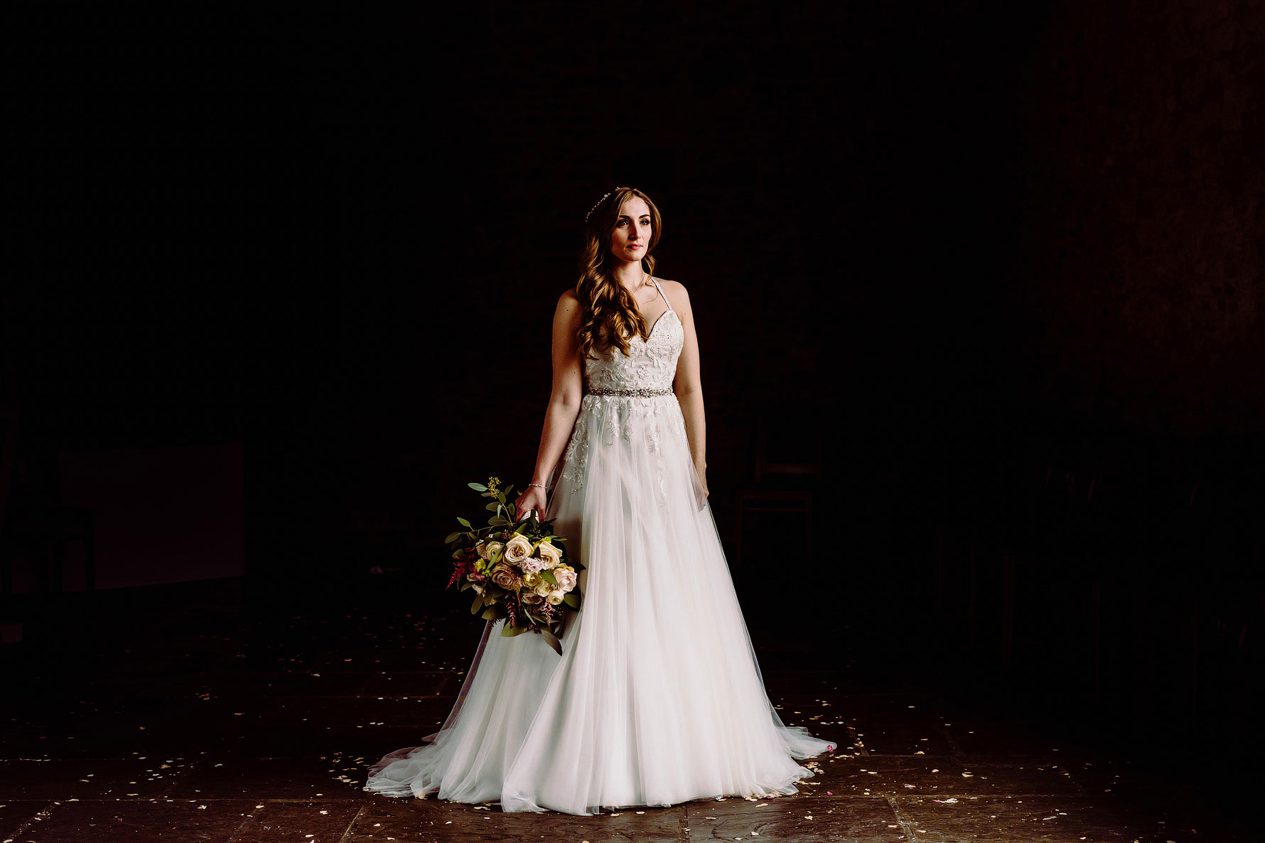 a stunning portrait of a bride by Elliot w patching photography