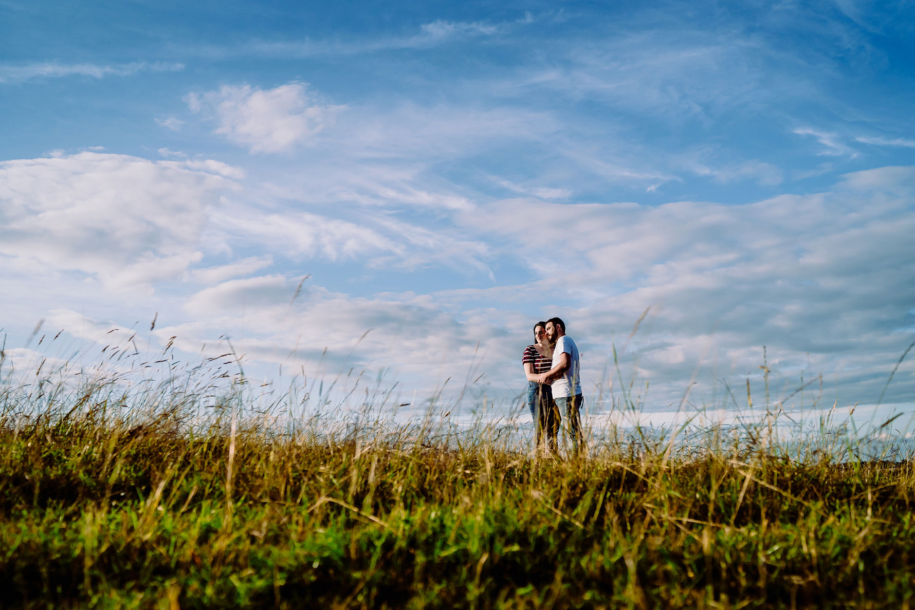 a countryside engagement shoot by Elliot w patching photography