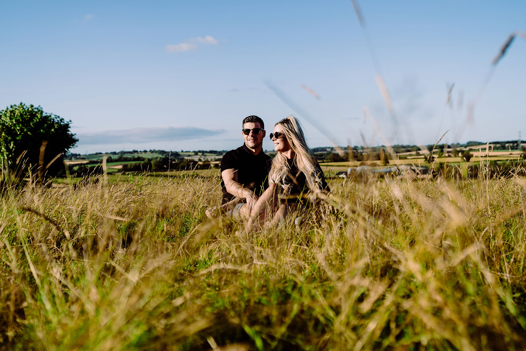 a sunny pre-wedding shoot featuring a feature bride and groom