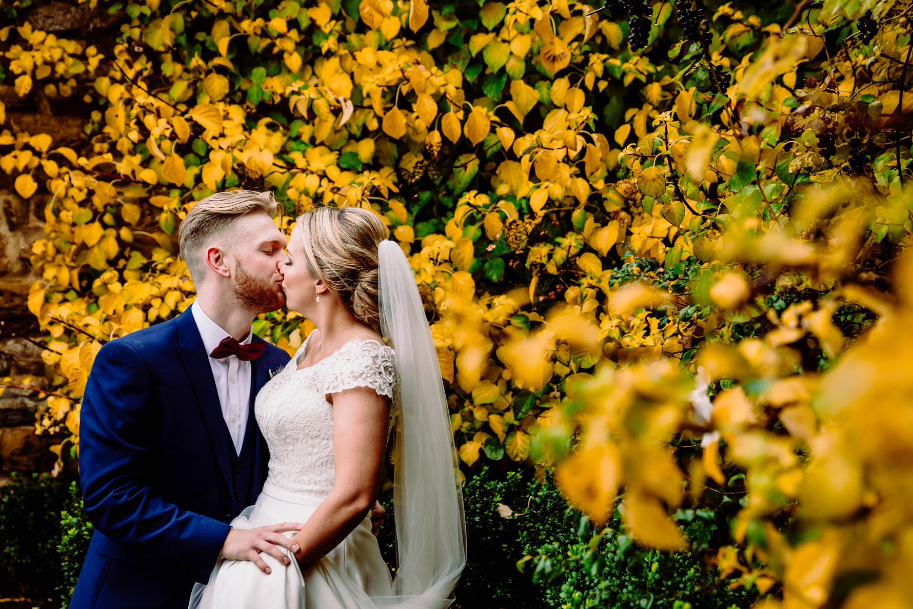 a colourful wedding photograph