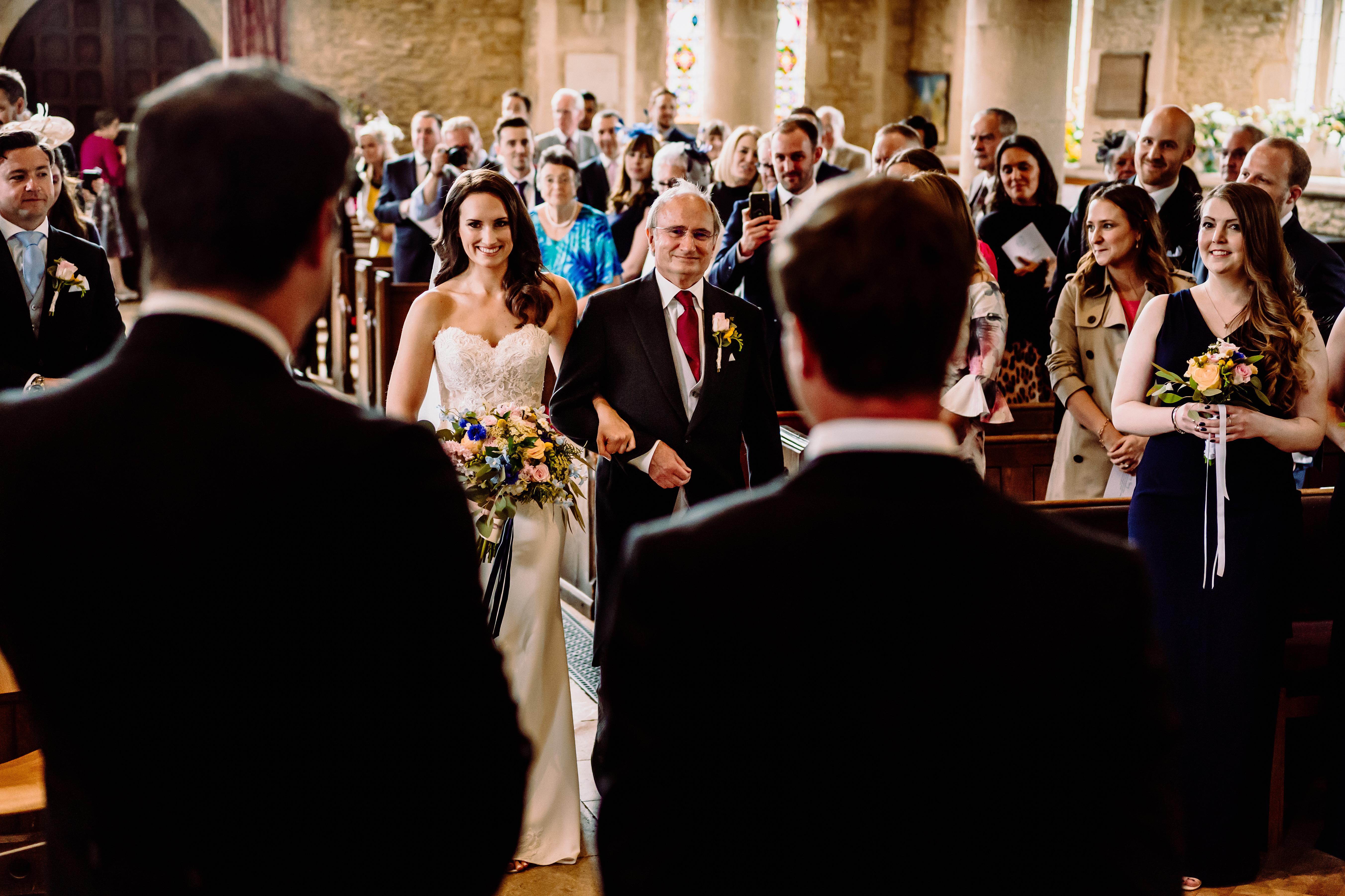 wedding photography at bampton church