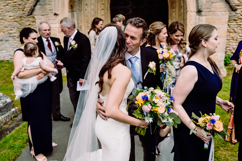 friends congratulate a bride