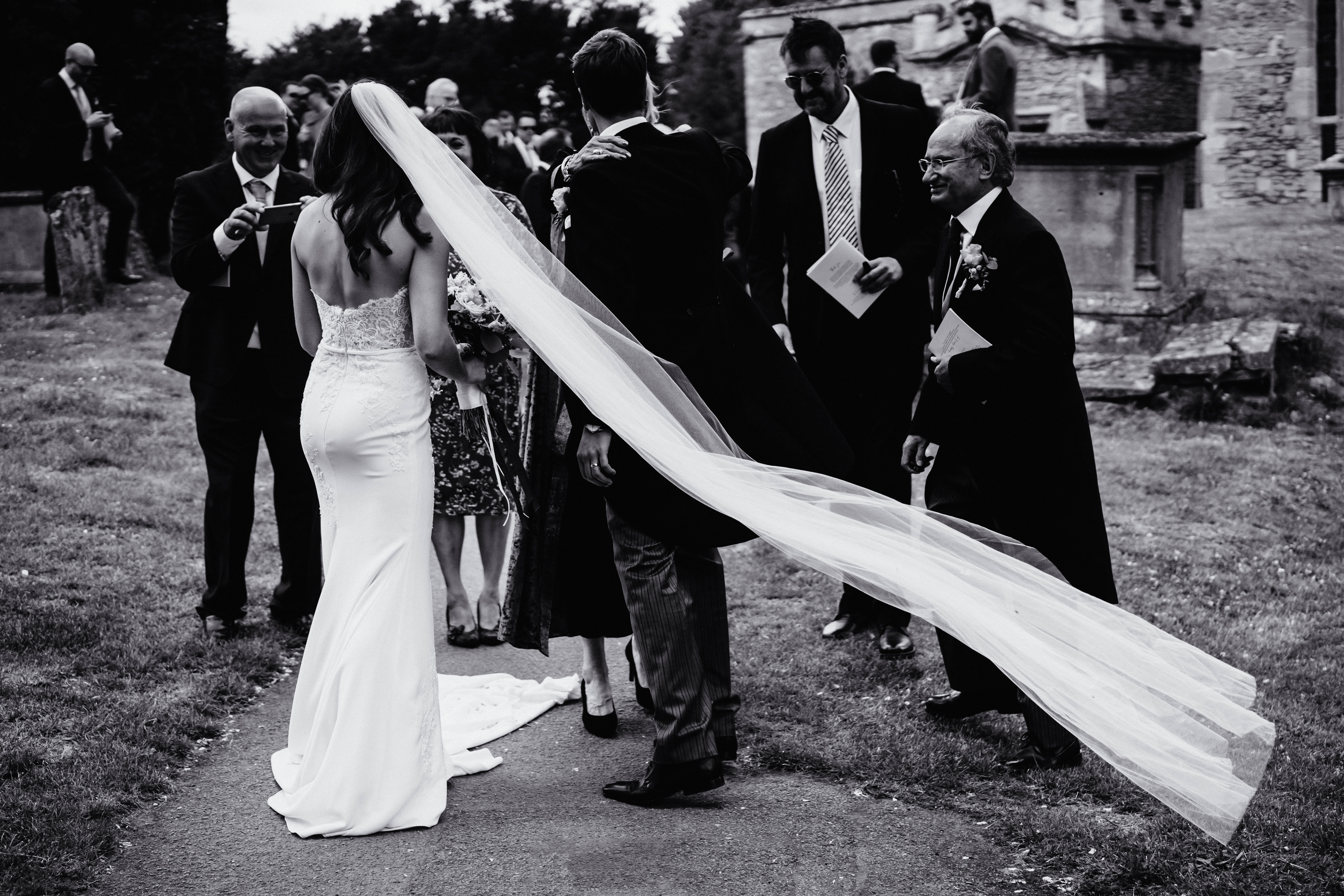 a black and white photo of a veil