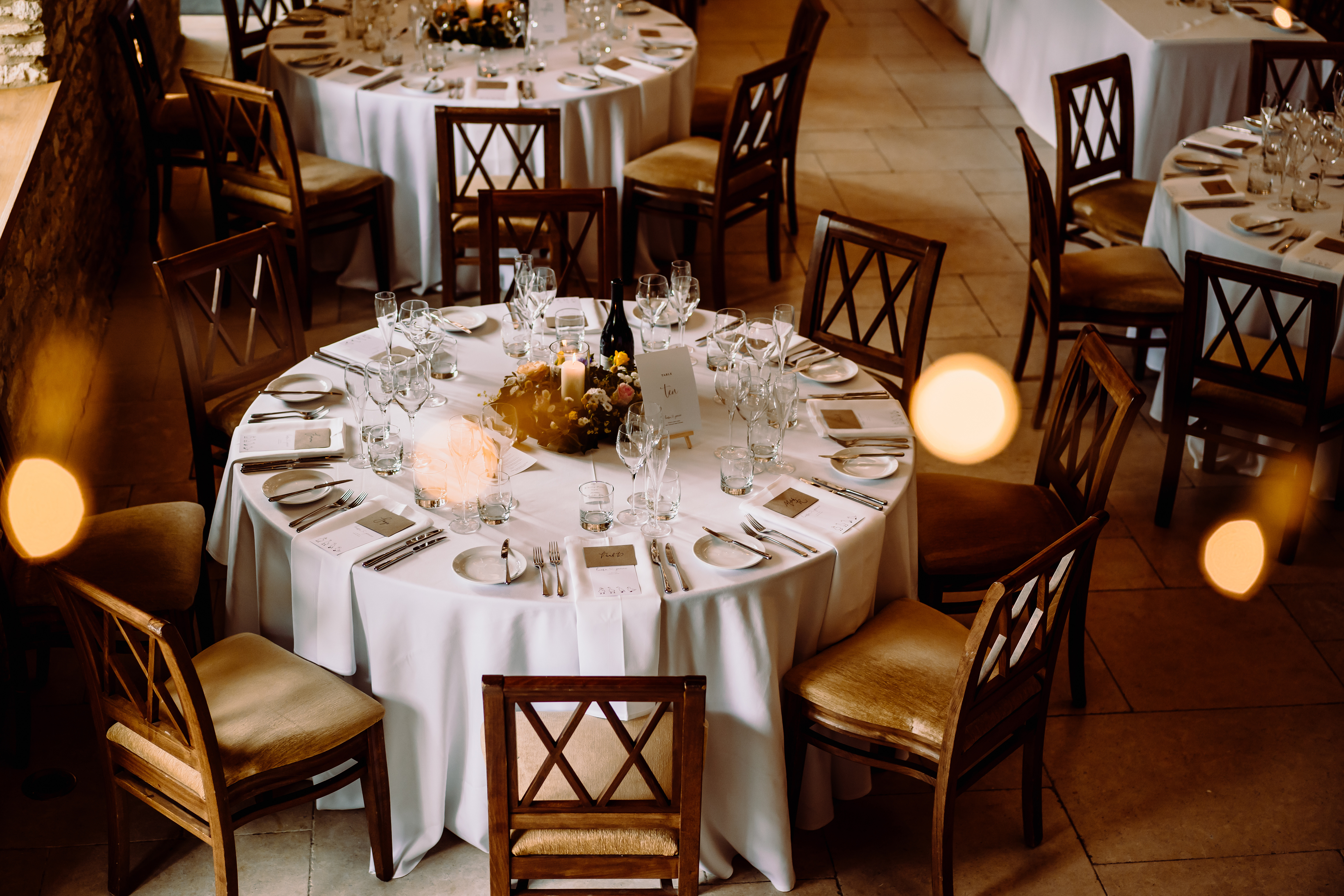 a table set for dinner