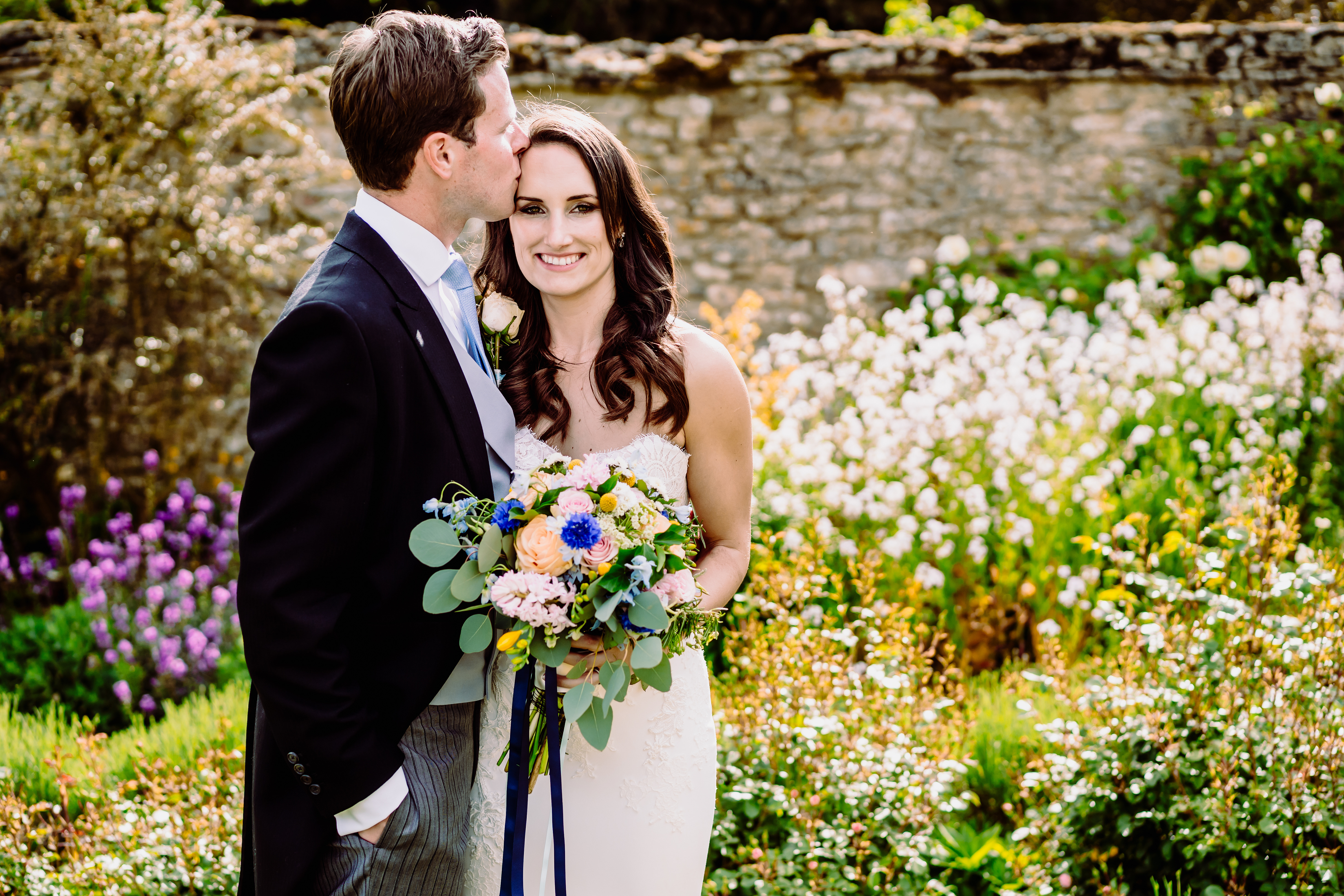 a bride in a white dress
