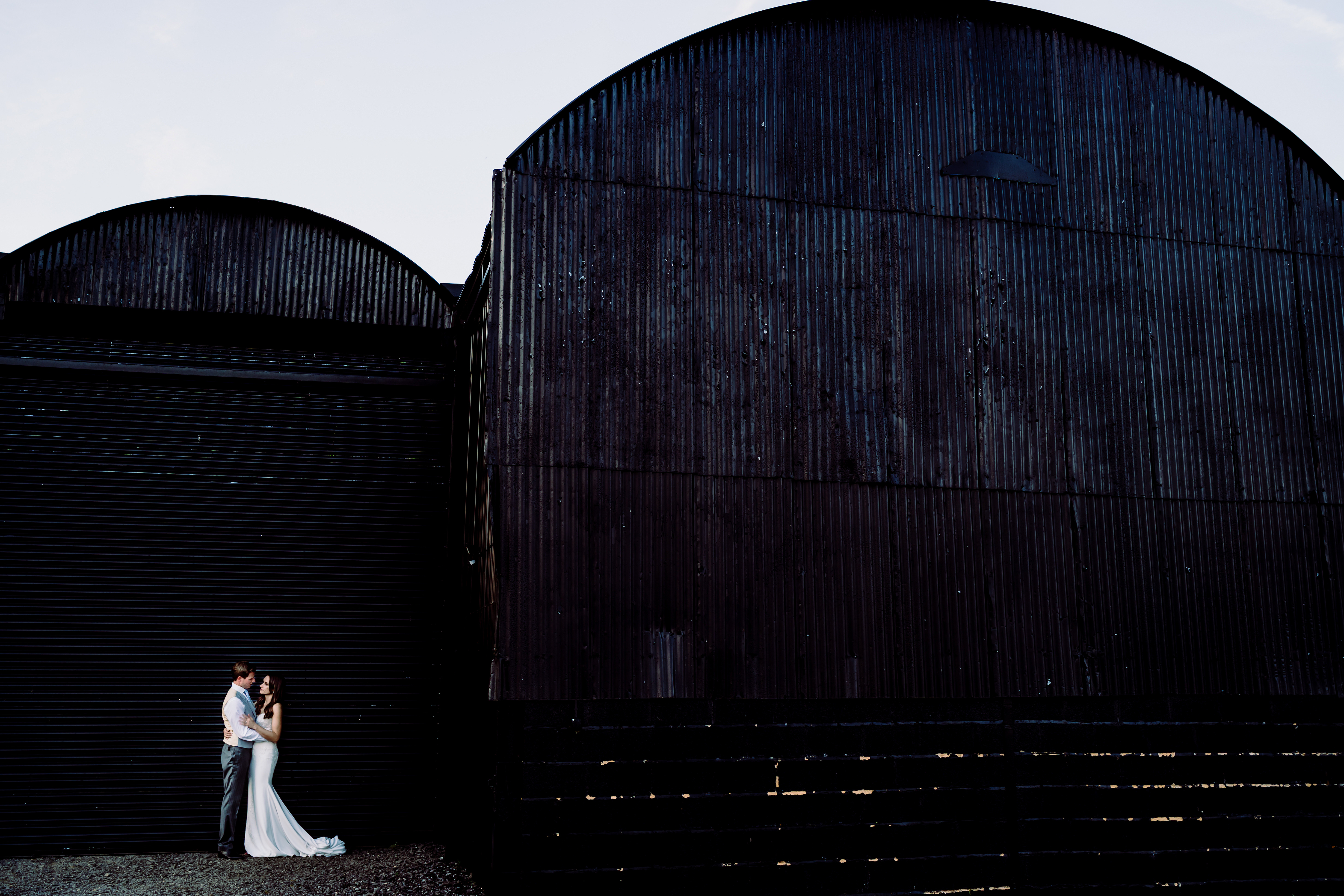 a photograph using the barns at caswell house