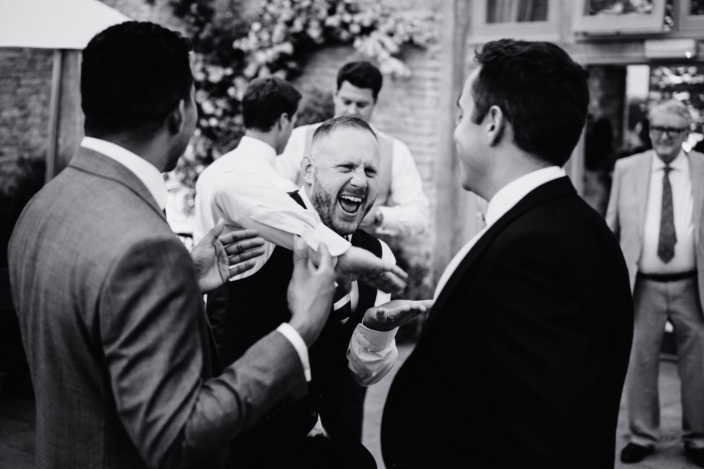 fun at a wedding reception