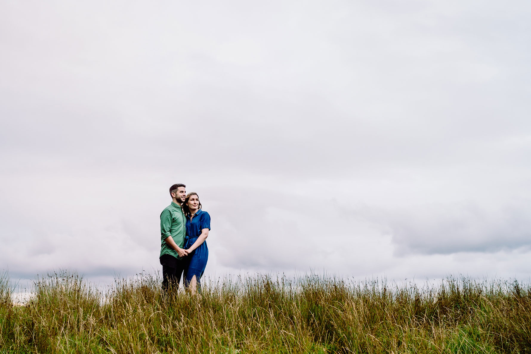 a couple at their engagement shoot in woburn