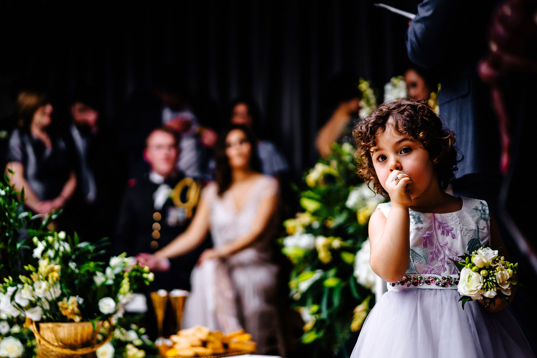a little girl at a Persian wedding ceremony