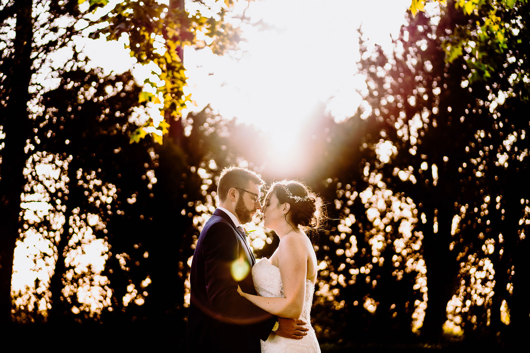 a creative photograph with lens flare